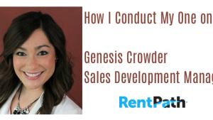 How I Conduct One on One Meetings   Genesis Crowder